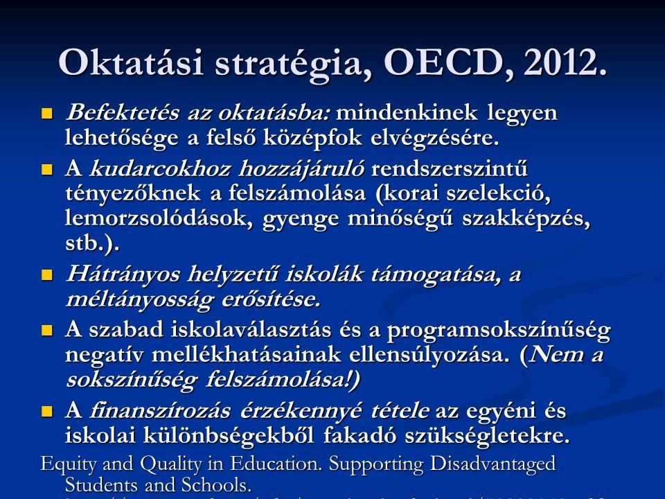 Oktatási stratégia, OECD, 2012.