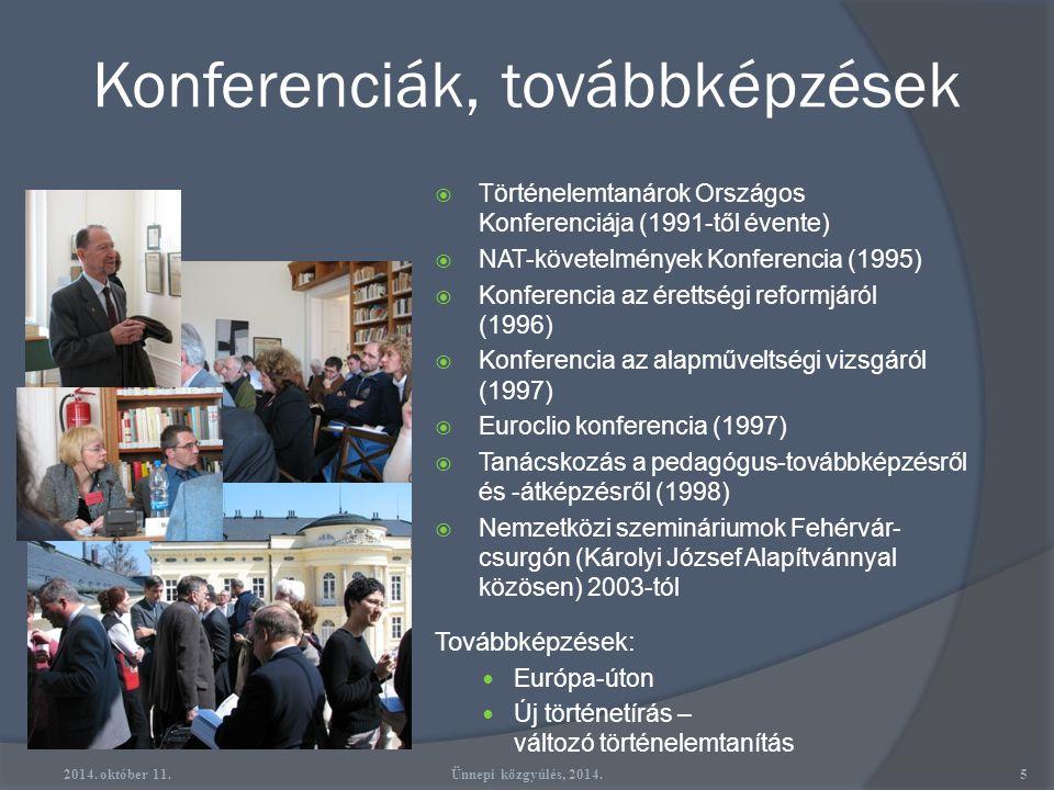 Konferenciák, továbbképzések