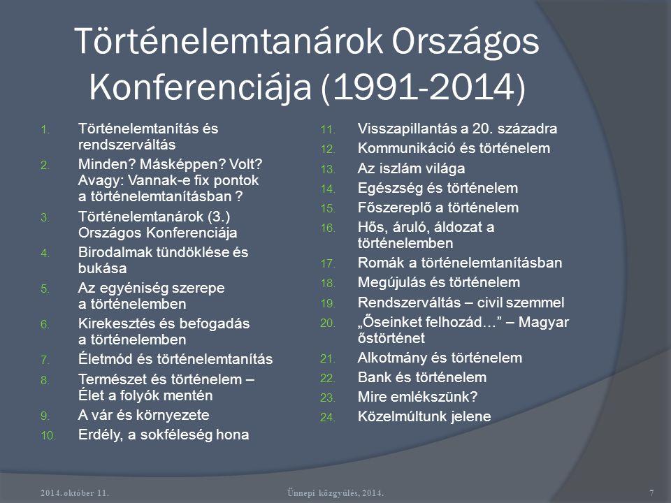 Történelemtanárok Országos Konferenciája (1991-2014)