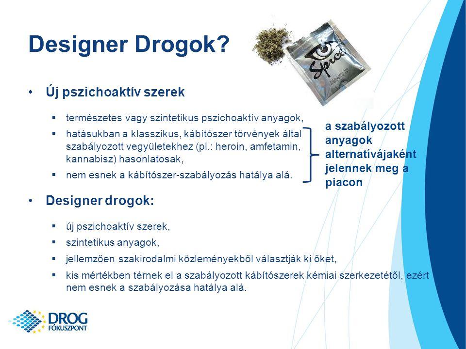Designer Drogok Új pszichoaktív szerek Designer drogok: