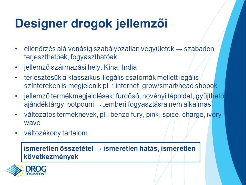 Designer drogok jellemzői