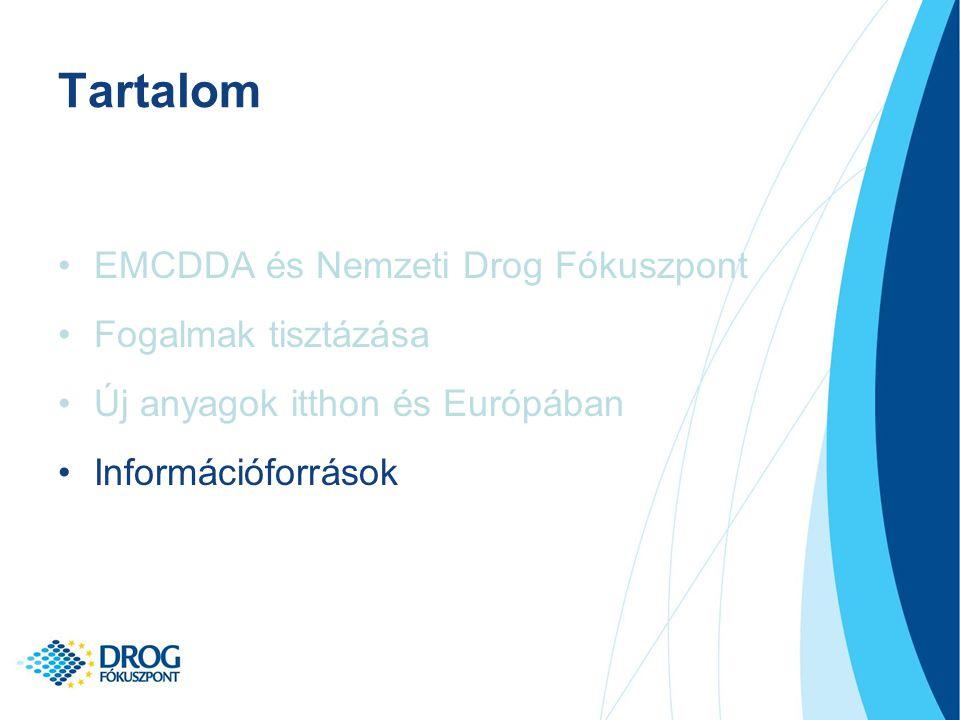 Tartalom EMCDDA és Nemzeti Drog Fókuszpont Fogalmak tisztázása