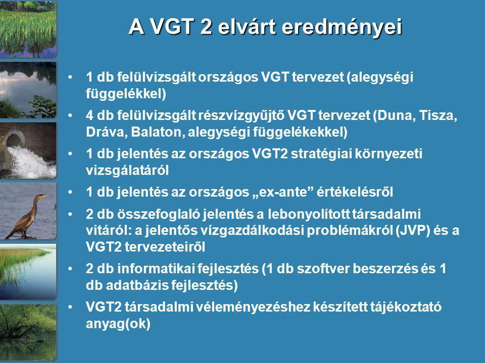 A VGT 2 elvárt eredményei