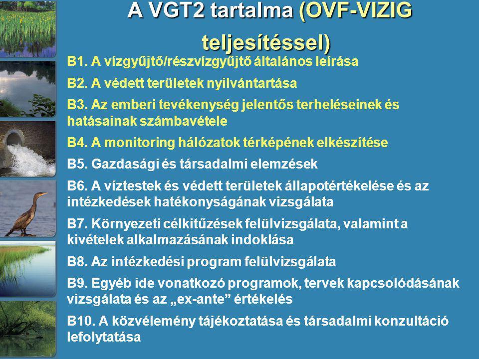 A VGT2 tartalma (OVF-VIZIG teljesítéssel)