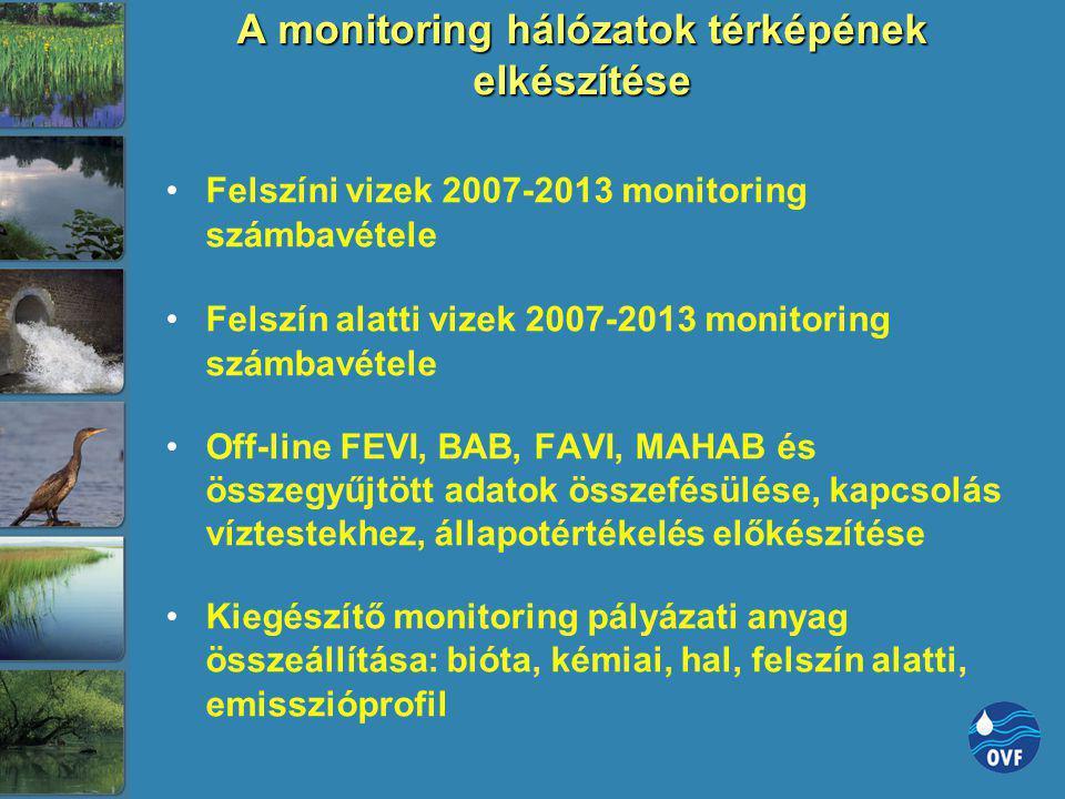 A monitoring hálózatok térképének elkészítése