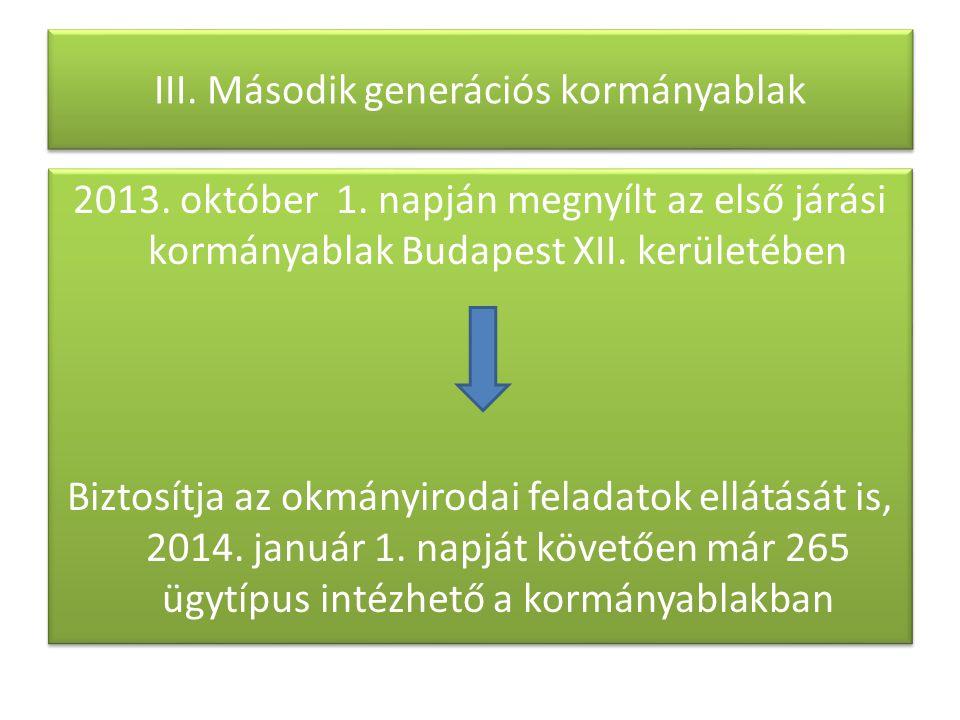 III. Második generációs kormányablak