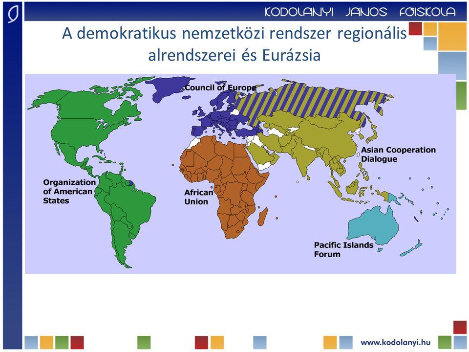 A demokratikus nemzetközi rendszer regionális alrendszerei és Eurázsia