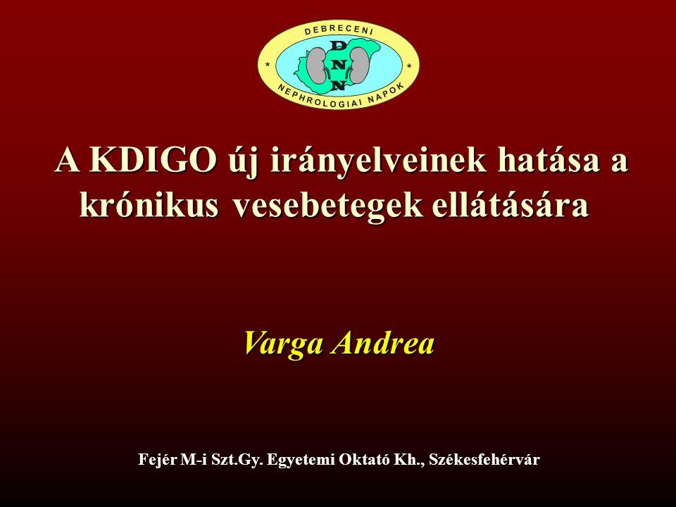 A KDIGO új irányelveinek hatása a krónikus vesebetegek ellátására