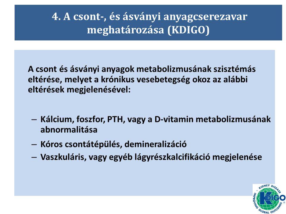 4. A csont-, és ásványi anyagcserezavar meghatározása (KDIGO)