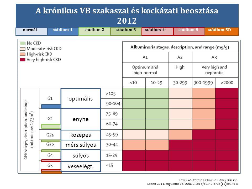 A krónikus VB szakaszai és kockázati beosztása