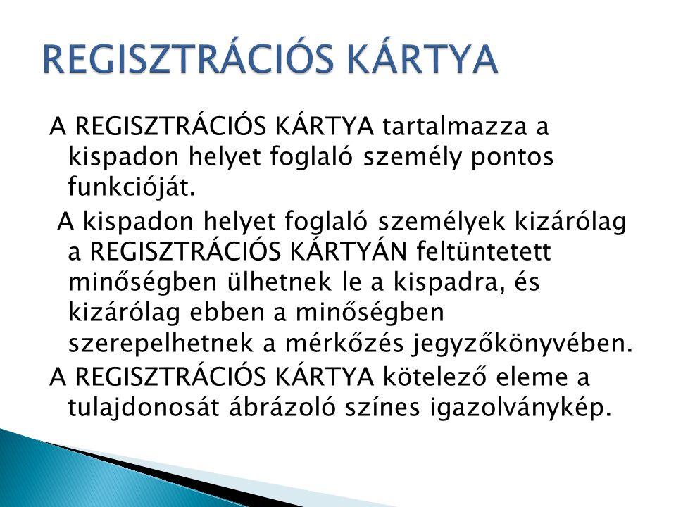 REGISZTRÁCIÓS KÁRTYA
