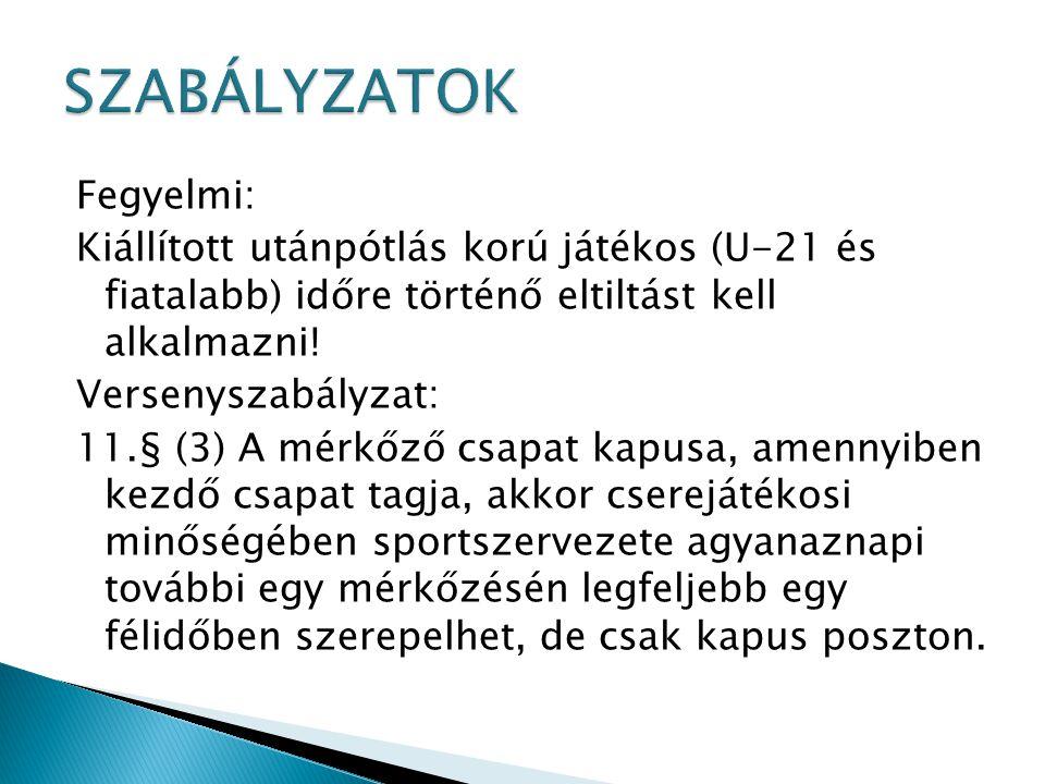 SZABÁLYZATOK