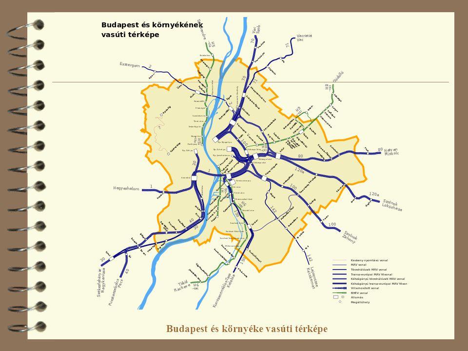 Budapest és környéke vasúti térképe