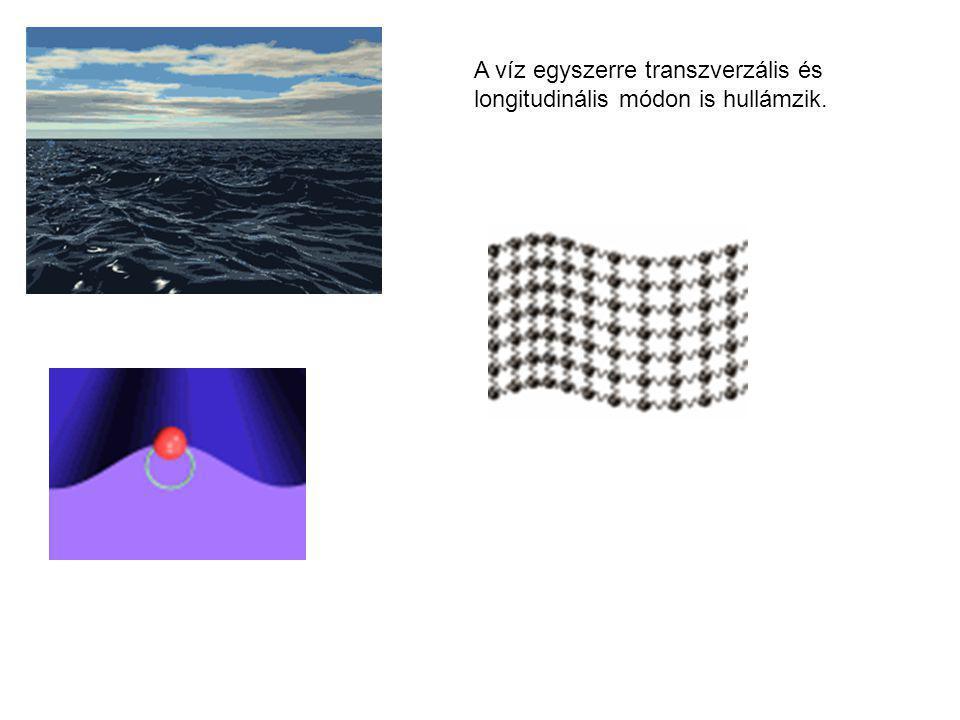 A víz egyszerre transzverzális és longitudinális módon is hullámzik.