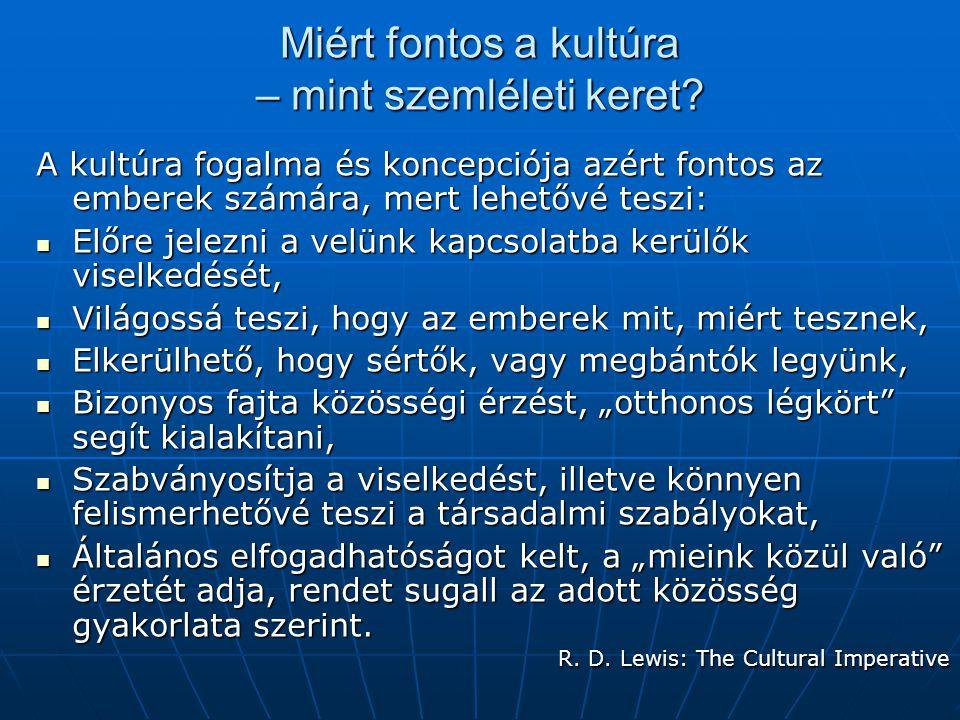 Miért fontos a kultúra – mint szemléleti keret