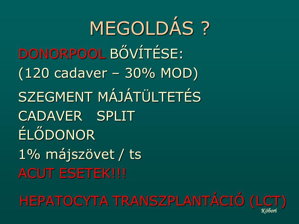 HEPATOCYTA TRANSZPLANTÁCIÓ (LCT)