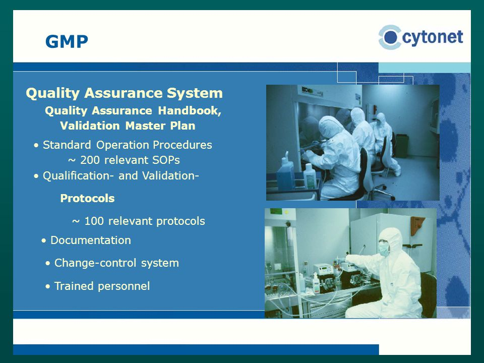 GMP Quality Assurance System Quality Assurance Handbook,