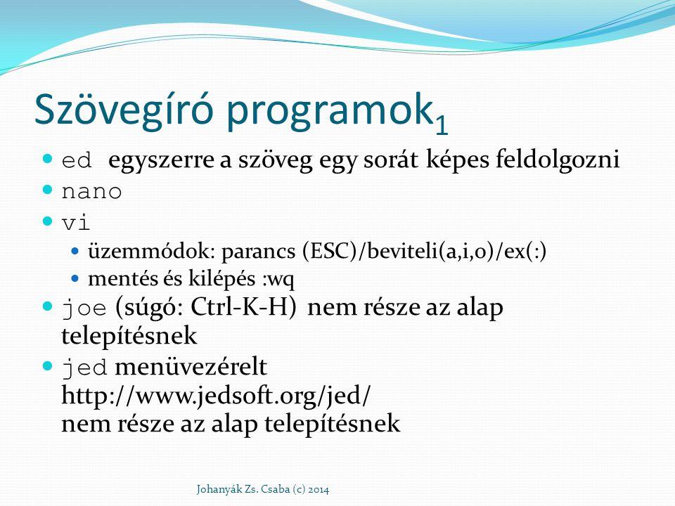 Szövegíró programok1 ed egyszerre a szöveg egy sorát képes feldolgozni