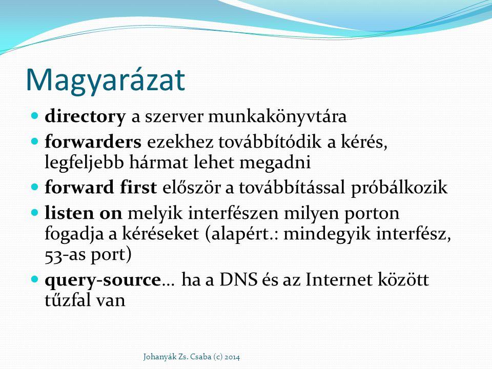 Magyarázat directory a szerver munkakönyvtára