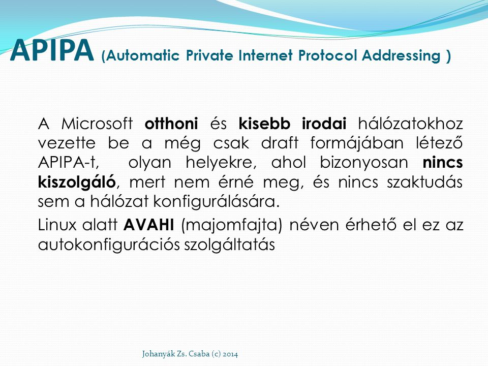 APIPA (Automatic Private Internet Protocol Addressing )
