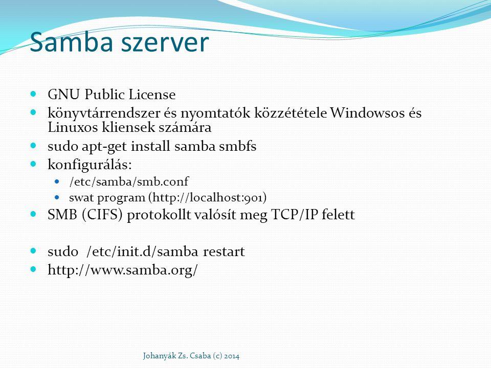 Samba szerver GNU Public License