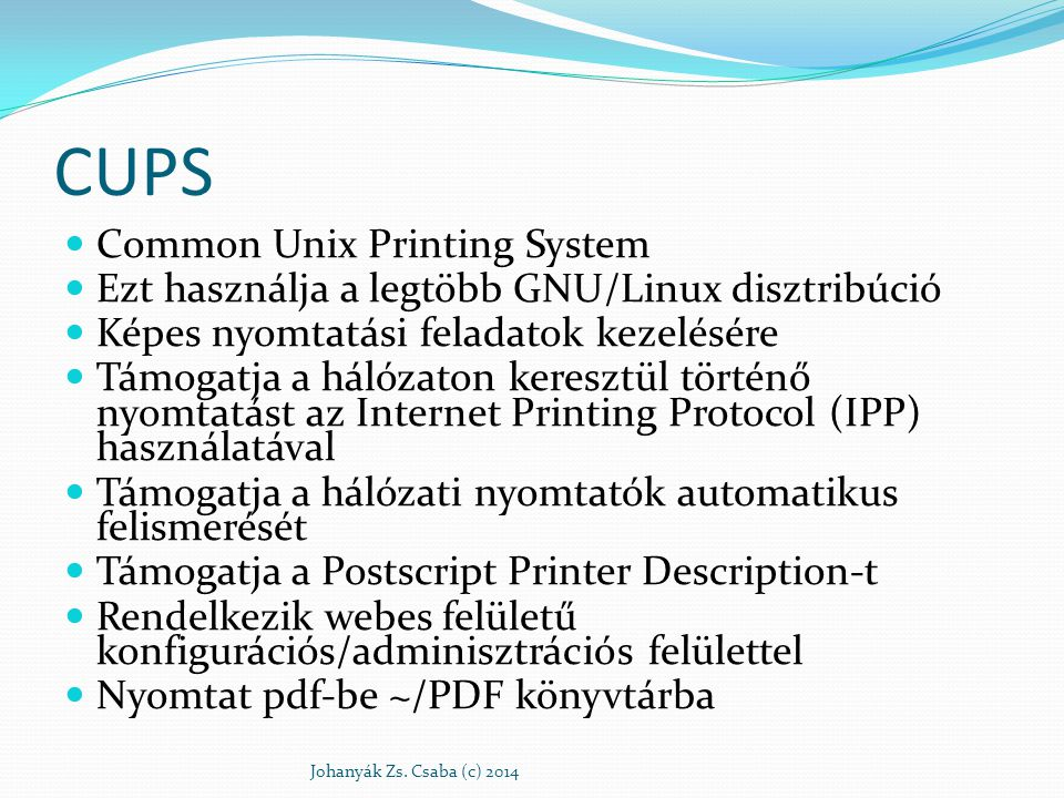 CUPS Common Unix Printing System