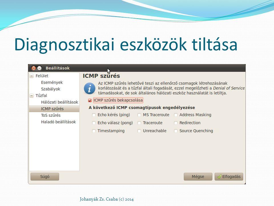 Diagnosztikai eszközök tiltása