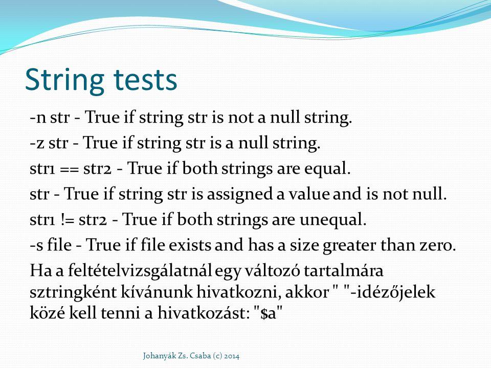 String tests