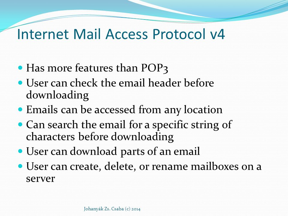 Internet Mail Access Protocol v4