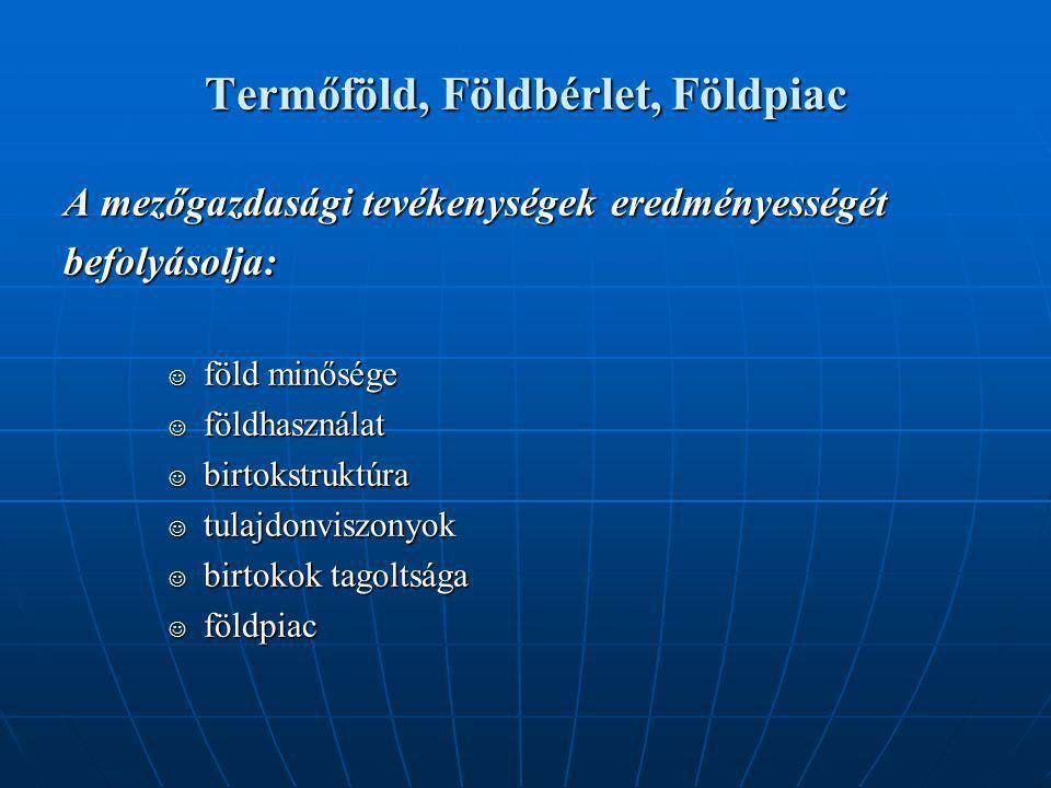 Termőföld, Földbérlet, Földpiac