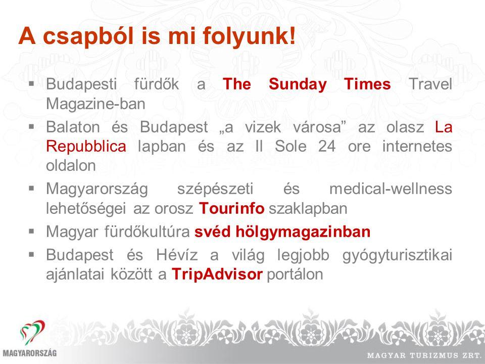 A csapból is mi folyunk! Budapesti fürdők a The Sunday Times Travel Magazine-ban.