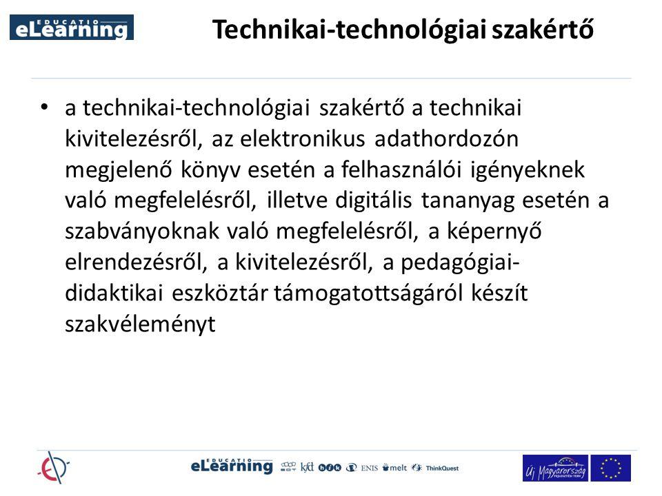 Technikai-technológiai szakértő