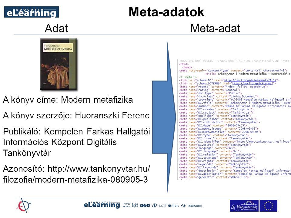 Meta-adatok Adat Meta-adat A könyv címe: Modern metafizika