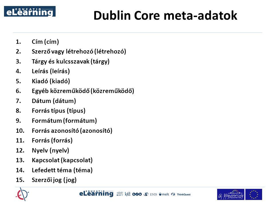 Dublin Core meta-adatok