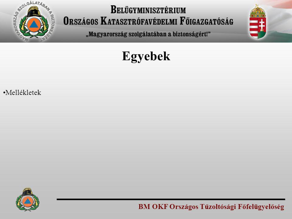 Egyebek Mellékletek BM OKF Országos Tűzoltósági Főfelügyelőség
