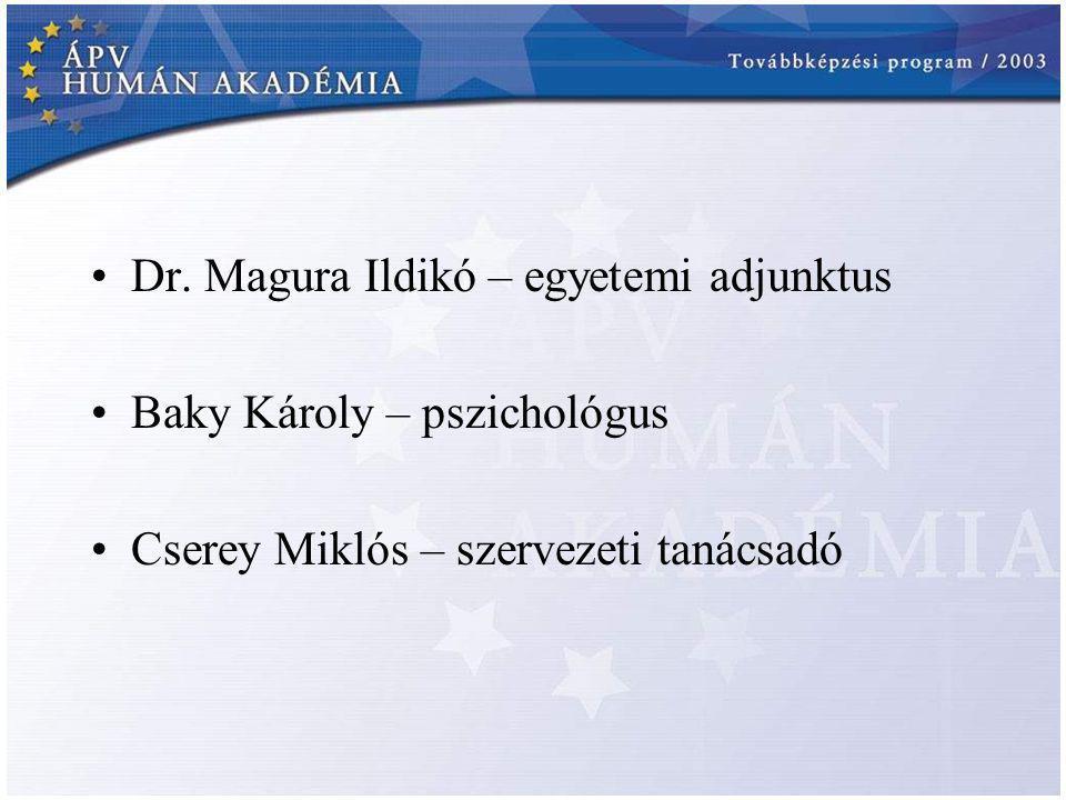 Dr. Magura Ildikó – egyetemi adjunktus