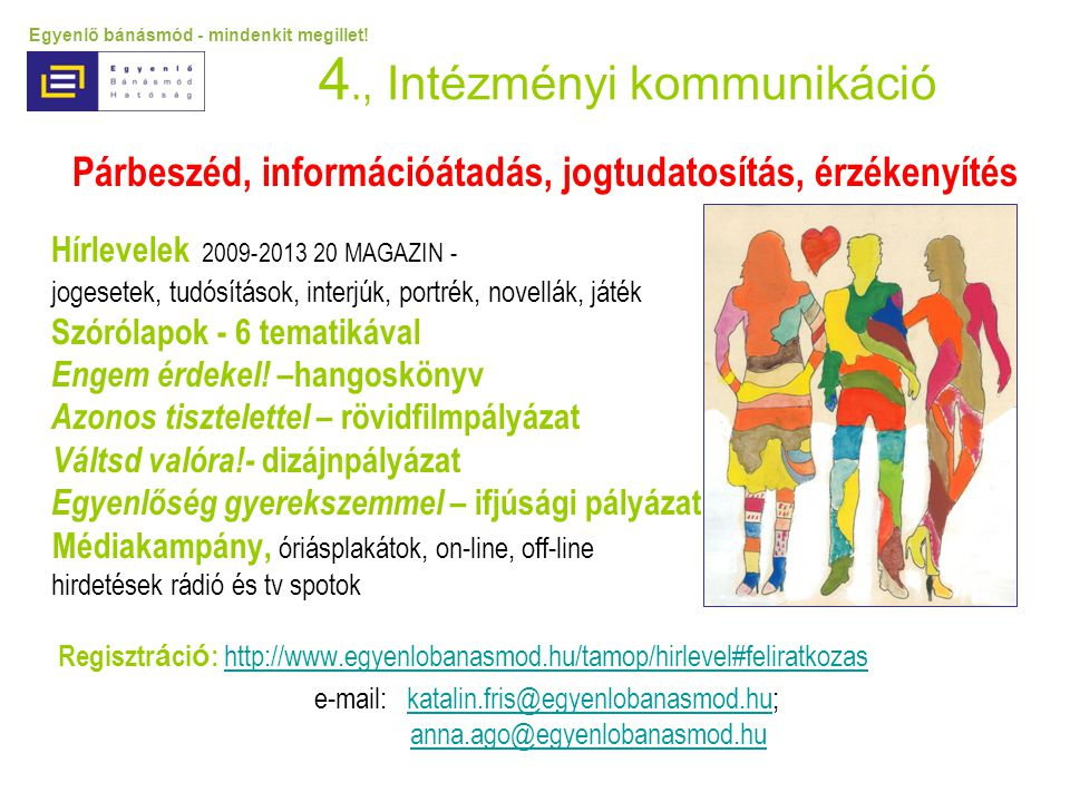 4., Intézményi kommunikáció