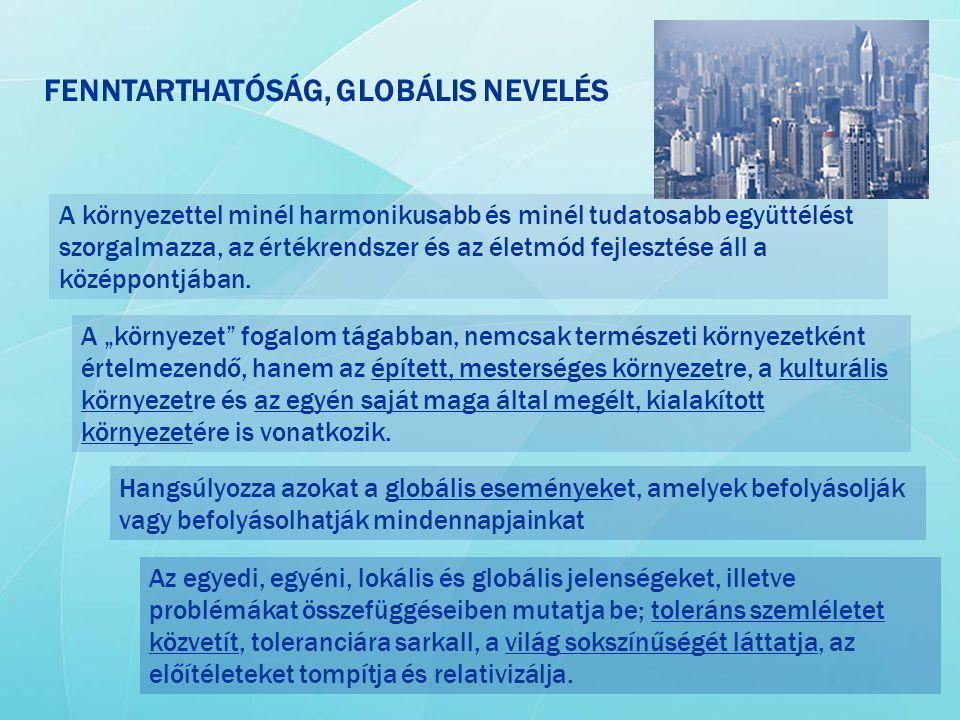 FENNTARTHATÓSÁG, GLOBÁLIS NEVELÉS