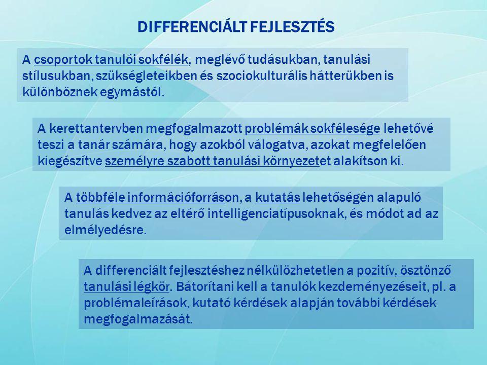 DIFFERENCIÁLT FEJLESZTÉS