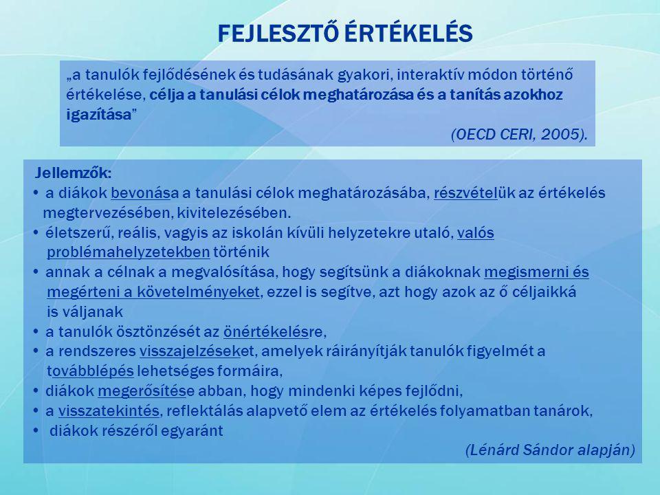 FEJLESZTŐ ÉRTÉKELÉS