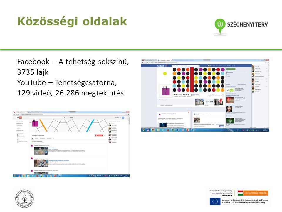 Közösségi oldalak Facebook – A tehetség sokszínű, 3735 lájk