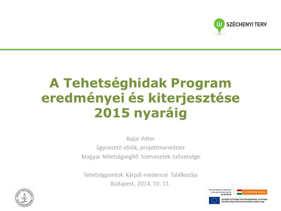 A Tehetséghidak Program eredményei és kiterjesztése 2015 nyaráig