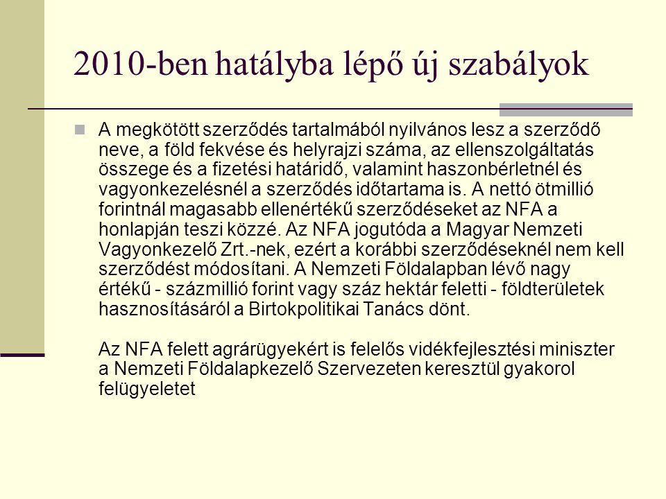 2010-ben hatályba lépő új szabályok