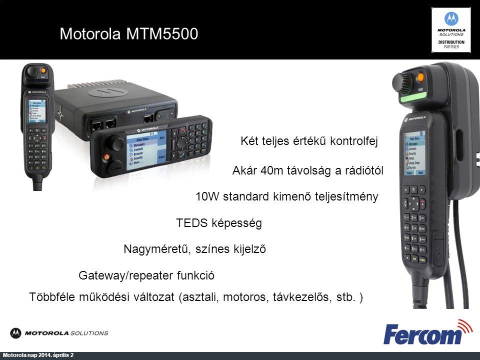 Motorola MTM5500 Két teljes értékű kontrolfej