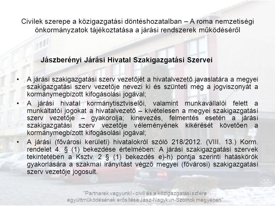 Jászberényi Járási Hivatal Szakigazgatási Szervei