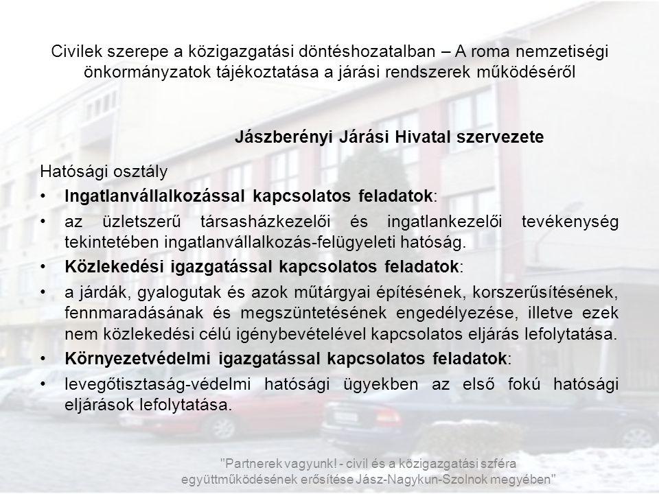 Jászberényi Járási Hivatal szervezete