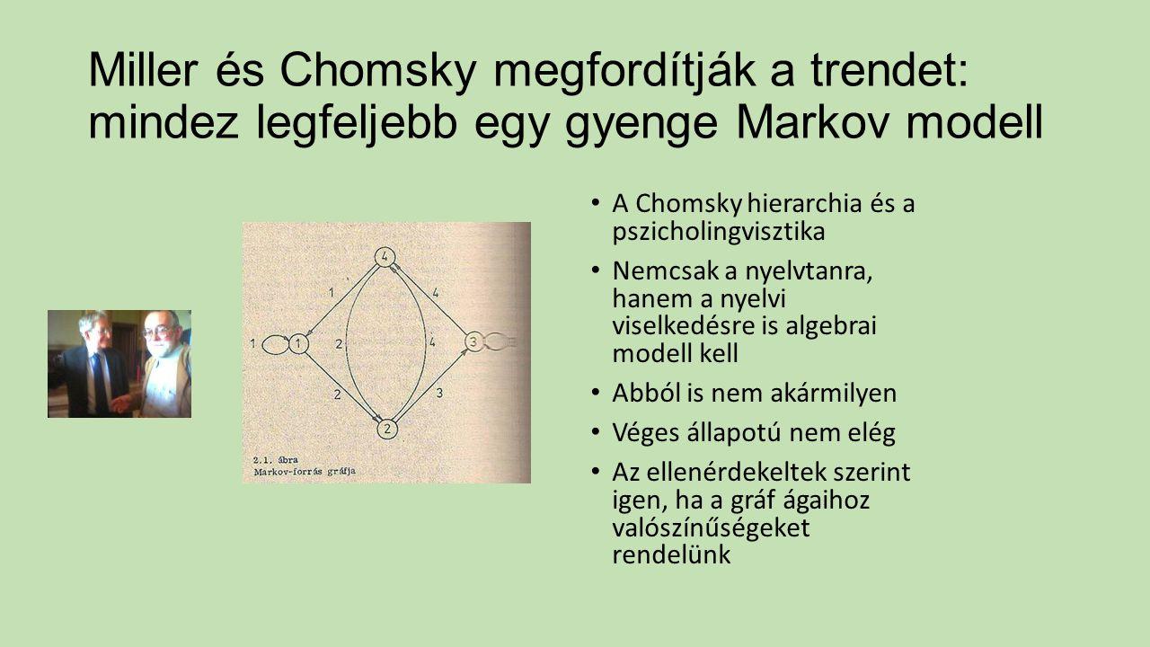 Miller és Chomsky megfordítják a trendet: mindez legfeljebb egy gyenge Markov modell