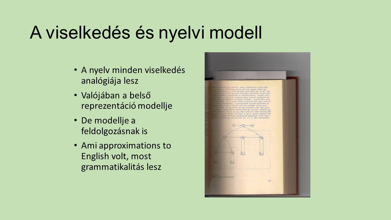 A viselkedés és nyelvi modell