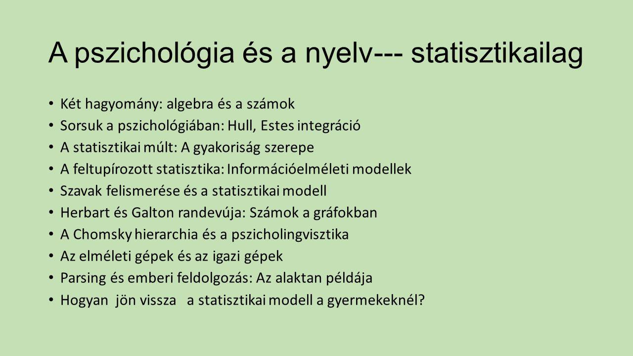 A pszichológia és a nyelv--- statisztikailag