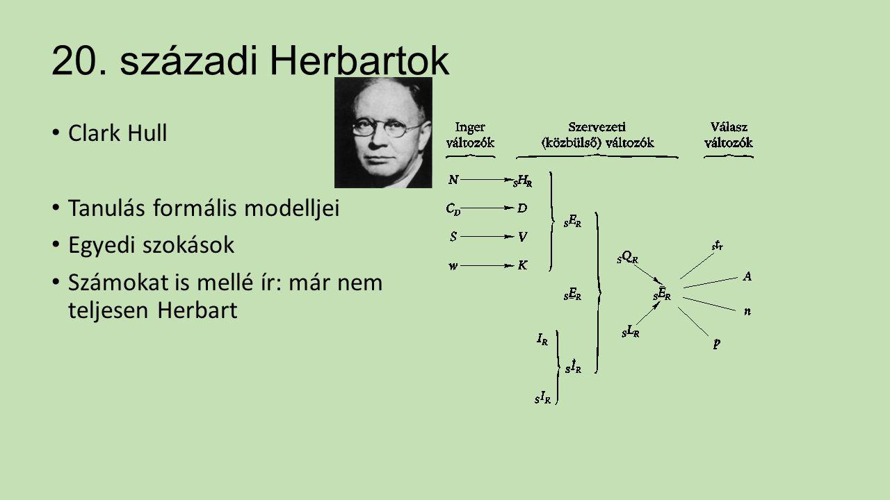 20. századi Herbartok Clark Hull Tanulás formális modelljei